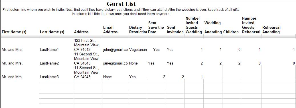 Your wedding planning with google docs the i do wedding studio