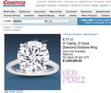 source - Million Dollar Wedding Ring