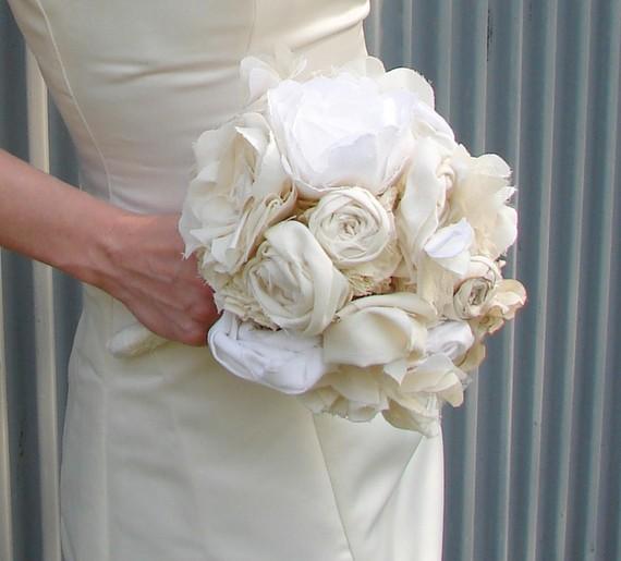 Fabric Flower Wedding Bouquet Tutorial: The I Do Wedding Studio