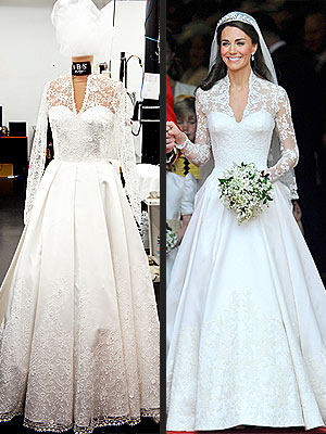 Kate middleton wedding dress details